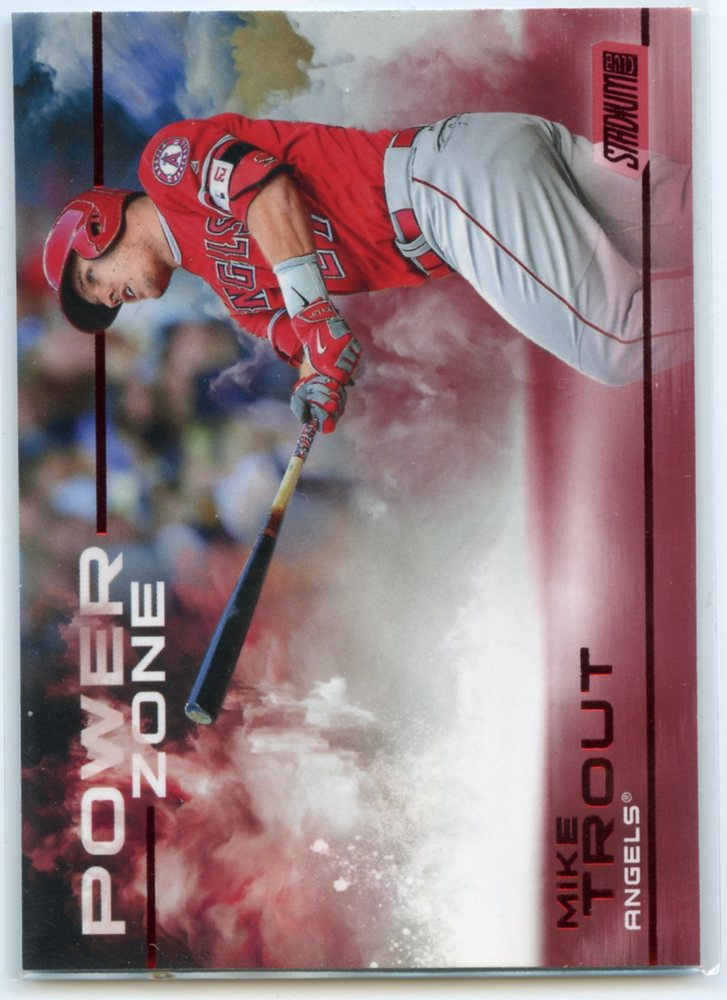 2019 Stadium Club Power Zone Red #PZ2 Mike Trout