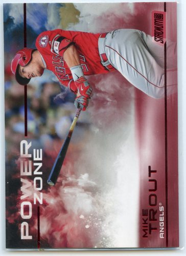 Photo of 2019 Stadium Club Power Zone Red #PZ2 Mike Trout