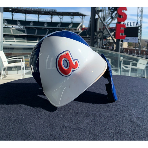 Photo of Ronald Acuña Game-Used 1974 Throwback Helmet