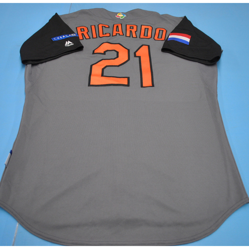 Photo of 2017 World Baseball Classic Game-Used Jersey - Dashenko Ricardo - Kingdom of the Netherlands (Size 44)