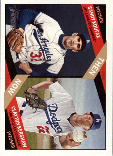 Photo of 2015 Topps Heritage Then and Now #TAN6 Clayton Kershaw/Sandy Koufax