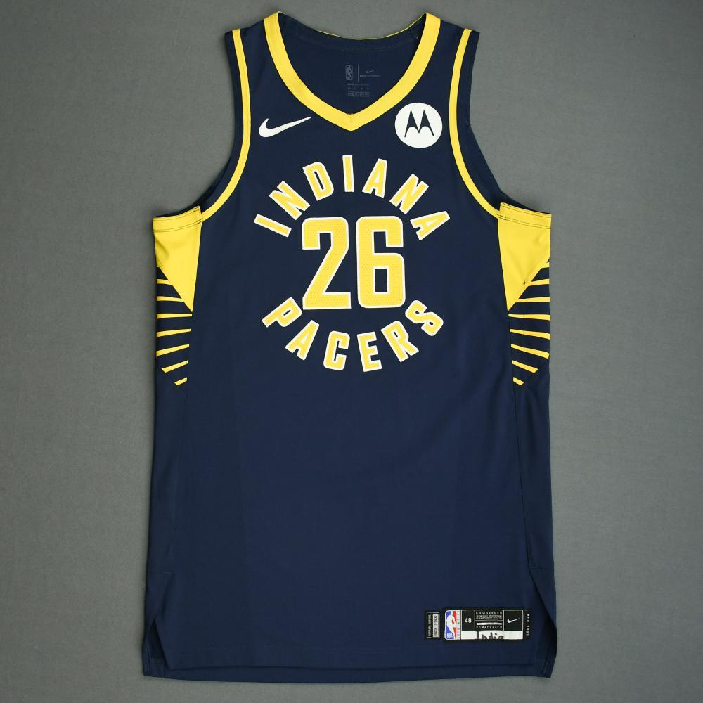 Jeremy Lamb - Indiana Pacers - Game-Worn Icon Edition Jersey - NBA India Games - 2019-20 NBA Season