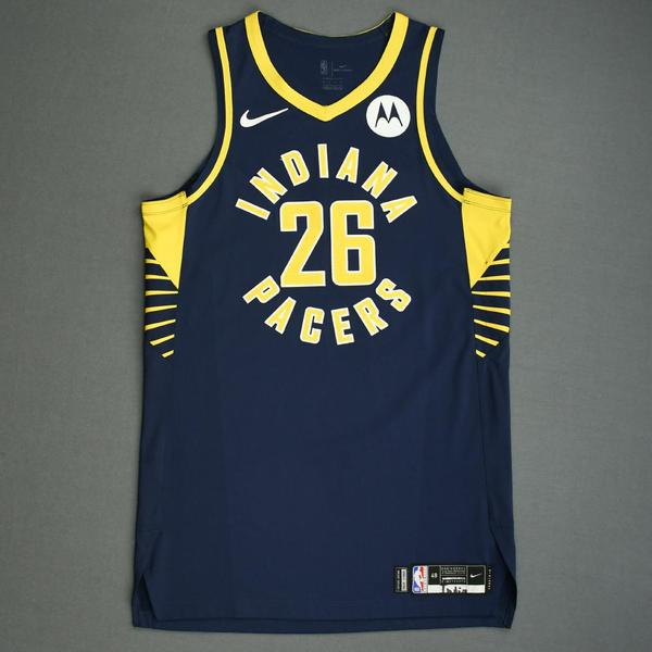 Image of Jeremy Lamb - Indiana Pacers - Game-Worn Icon Edition Jersey - NBA India Games - 2019-20 NBA Season