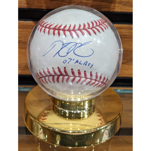 Photo of Dustin Pedroia '07 AL ROY' Autographed Baseball