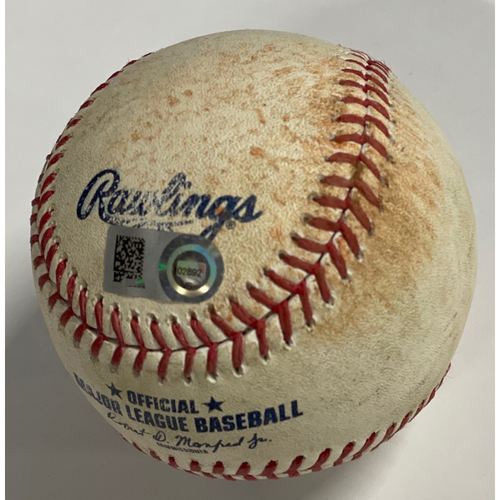 Photo of Game-Used Baseball - 9/24/2020 - White Sox at Indians - Yoan Moncada Triple off Zach Plesac