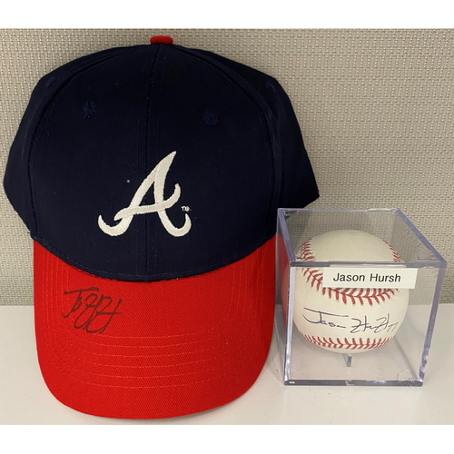 Photo of Jason Hursh Autographed Baseball and Hat Combo