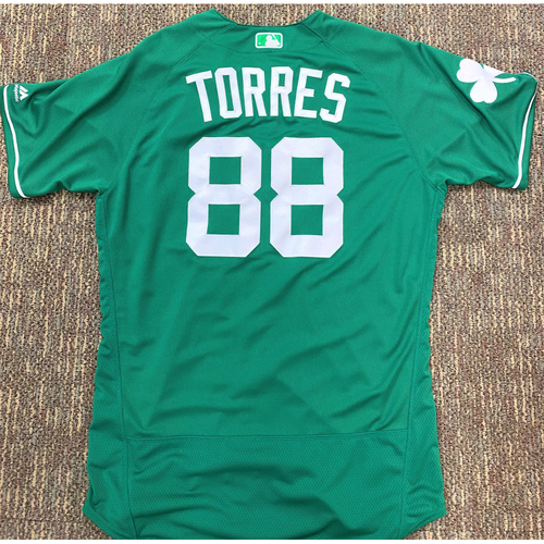 Frank Torres #88 Detroit Tigers Team-Issued 2019 St. Patrick's Day Jersey (MLB AUTHENTICATED)