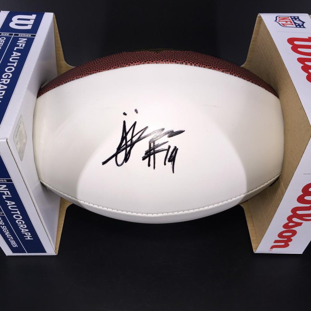 NFL - Eagles JJ Arcega-Whiteside Signed Panel Ball