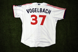 Photo of #37 Game Worn Home Jersey, Size 50, worn by Dan Vogelbach.