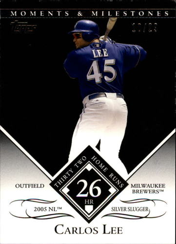 Photo of 2007 Topps Moments and Milestones Black #145-26 Carlos Lee/HR 26