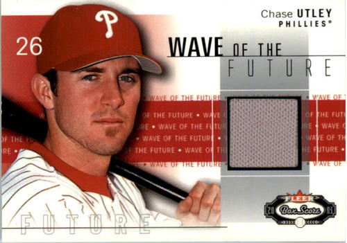 Photo of 2003 Fleer Box Score Wave of the Future Game Used #CU Chase Utley Jsy