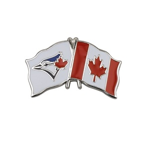 Canada/Blue Jays Crossed Flags Pin by Aminco