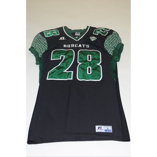 Photo of # 28 - Official OHIO BOBCATS Game Worn Football Jersey (2011) - SIZE LARGE