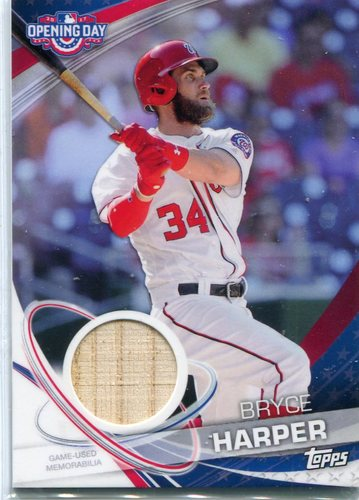 Photo of 2017 Topps Opening Day Relics  Bryce Harper -- 2018 All-Star