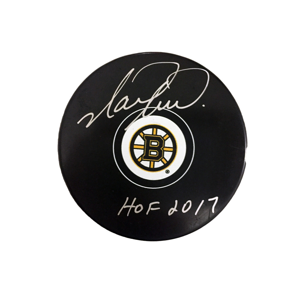 MARK RECCHI Signed Boston Bruins Puck with