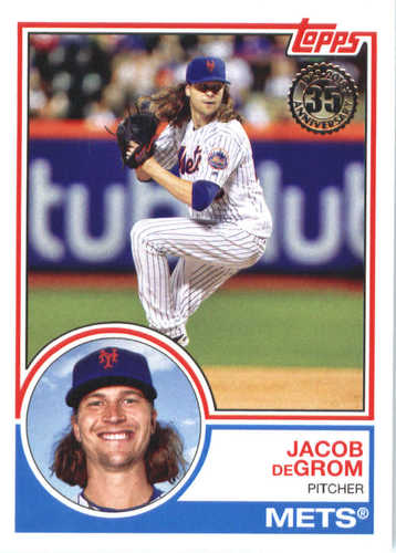 Photo of 2018 Topps '83 Topps #835 Jacob deGrom