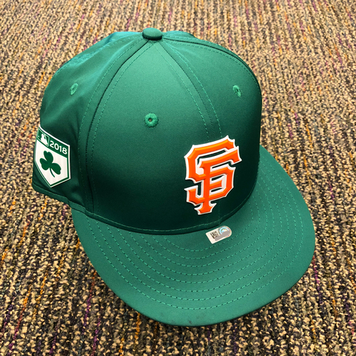Photo of 2018 San Francisco Giants - 2018 St. Patrick's Day Game Used Cap used by #41 Mark Melancon