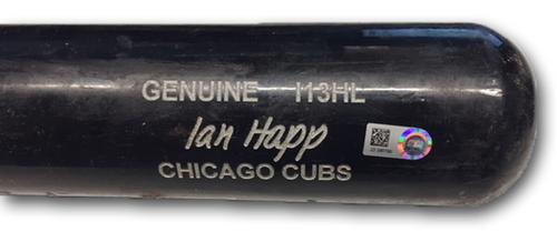 Photo of Ian Happ Game-Used Bat -- Matt Bowman to Ian Happ, Ground Out, Top 9 -- Cubs at Cardinals -- 6/16/18