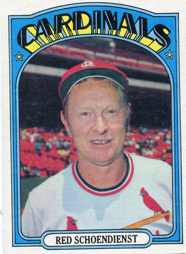 Photo of 1972 Topps #67 Red Schoendienst -- Hall of Fame Class of 1989