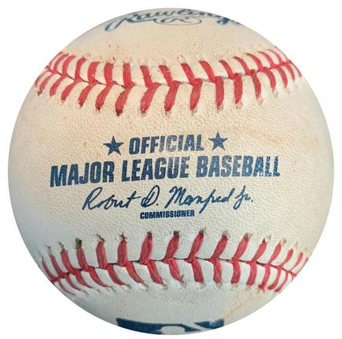 Photo of Game-Used Baseball from Pirates vs. Brewers on 5/6/17 - Gerrit Cole Single
