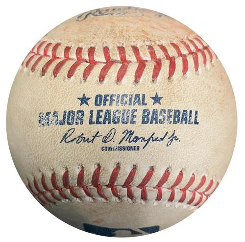 Photo of Game-Used Baseball from Pirates vs. Nationals on 5/17/17 - Andrew McCutchen 2 RBI Single