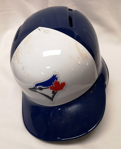 Photo of Authenticated Game Used Helmet - #29 Devon Travis: May 23, 2018: 1-for-3 with 1 HR and 1 RBI. June 15, 2018: 2-for-5 with 1 HR and 2 RBIs. Size 7 3/8.