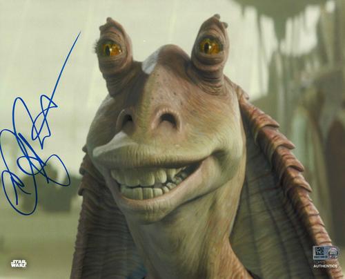 Ahmed Best As Jar Jar Binks 8X10 Autographed IN 'BLUE' INK PHOTO