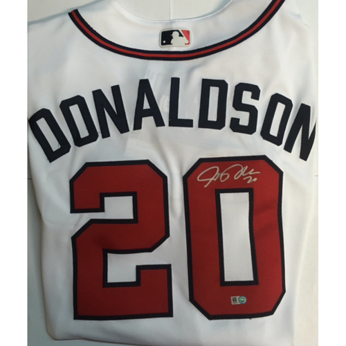 Photo of Josh Donaldson Autographed Authentic Braves Jersey