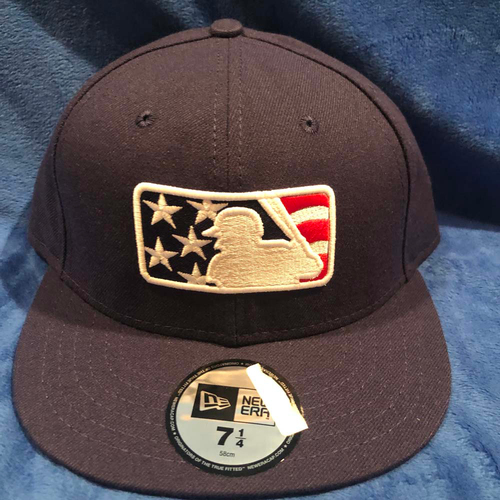 Photo of UMPS CARE AUCTION: MLB Specialty Stars and Stripes Umpire Base Cap, Navy, Size 7 1/4