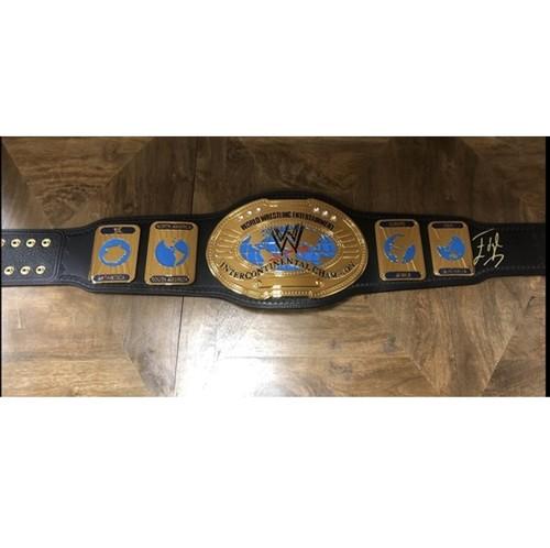 Photo of Edge SIGNED WWE Attitude Era Intercontinental Championship Replica Title