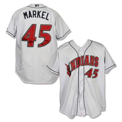 #45 Parker Markel Game Worn Home White Jersey