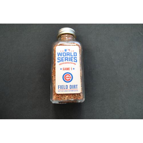 Photo of 2016 World Series Game-Used Dirt Jar - Game 1 - Progressive Field