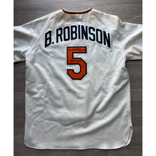 Photo of Brooks Robinson Autographed Jersey - Size 48 - NOT MLB Authenticated - Certificate of Authenticity Included