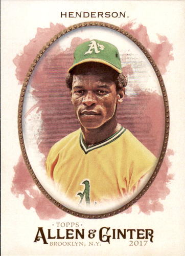 Photo of 2017 Topps Allen and Ginter #54 Rickey Henderson