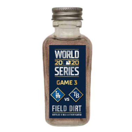 Photo of Game-Used Dirt Jar - 2020 World Series - Los Angeles Dodgers v. Tampa Bay Rays - Game 3
