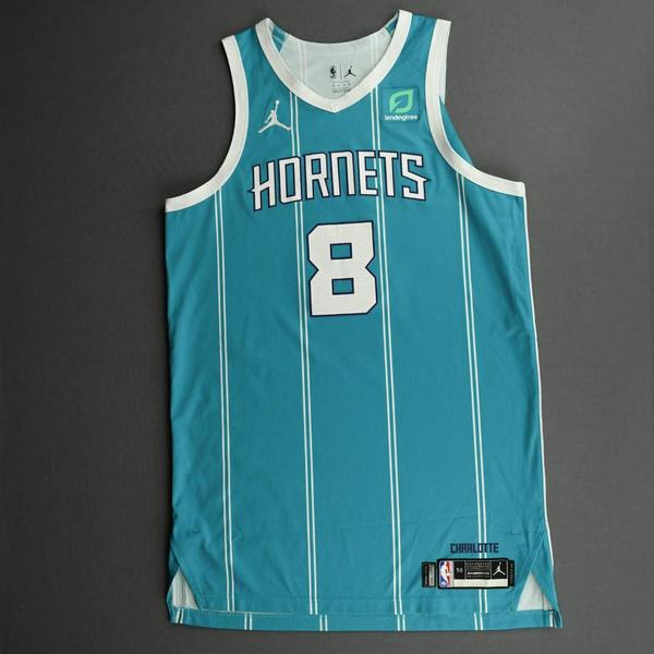 Image of Bismack Biyombo - Charlotte Hornets - Game-Worn Icon Edition Jersey