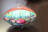 Jaguars - Customized Artist Football Autographed by Collin Johnson - Boats depicted in artwork