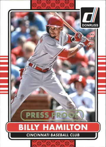 Photo of 2015 Donruss Press Proofs Gold #74 Billy Hamilton