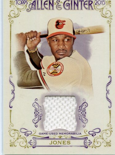 Photo of 2015 Topps Allen and Ginter Relics #FSRAAJ Adam Jones