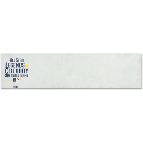 2016 ASG Legends & Celebrity Game: Game-Used Pitching Rubber