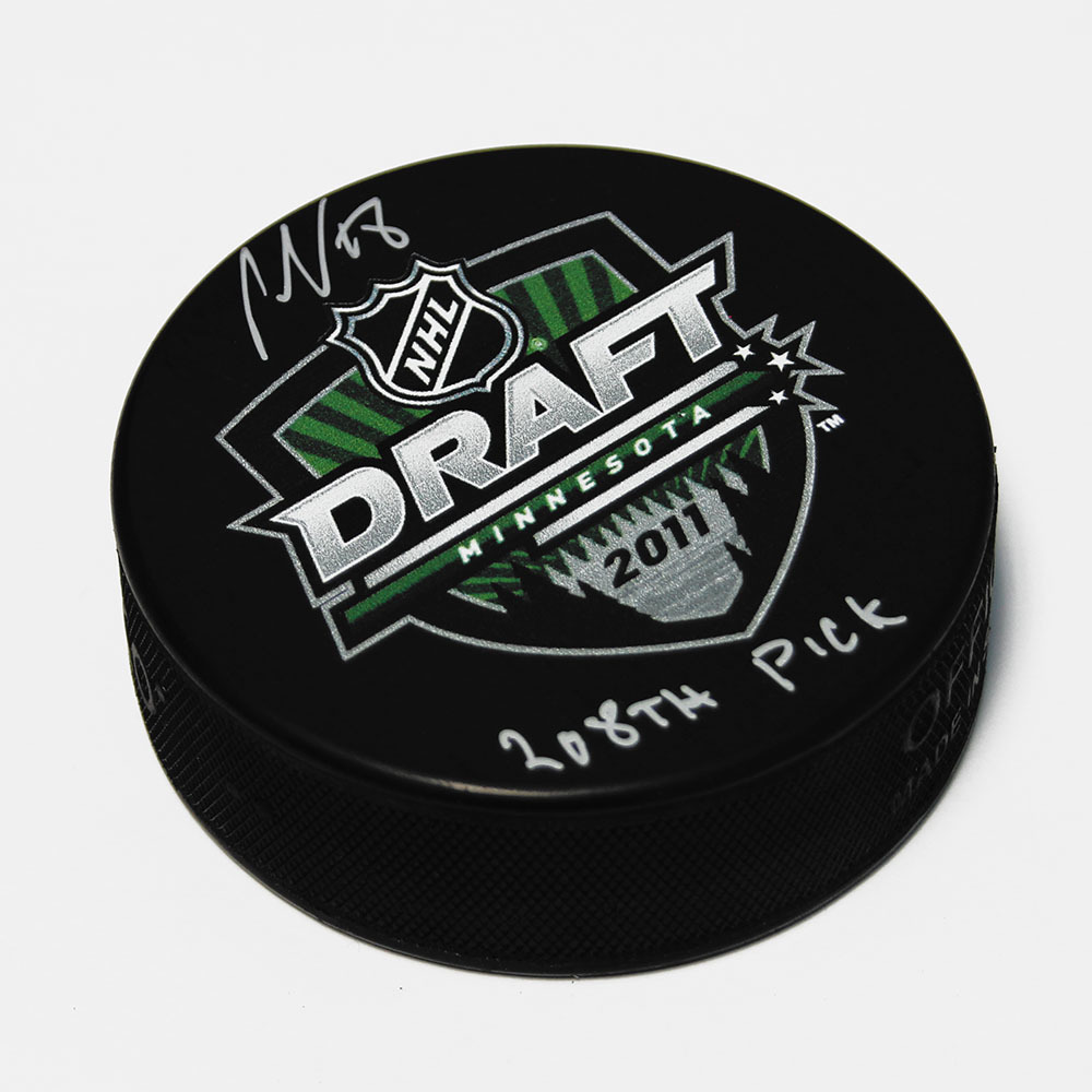 Ondrej Palat 2011 NHL Draft Day Autographed Hockey Puck with 208th Pick Note *Tampa Bay Lightning*