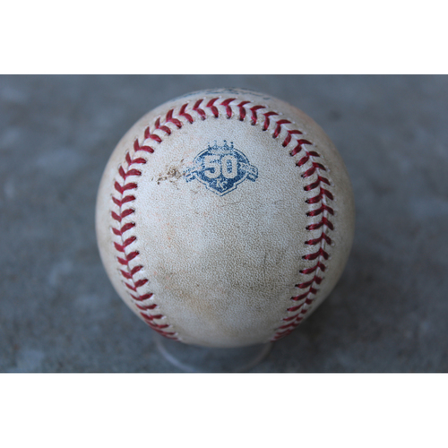 Photo of Game-Used Baseball: Daniel Palka 2nd Career Hit, Tim Anderson 293rd Career Hit, Leury Garcia 151st Career Hit (CWS at KC - 4/28/18 Game 1)