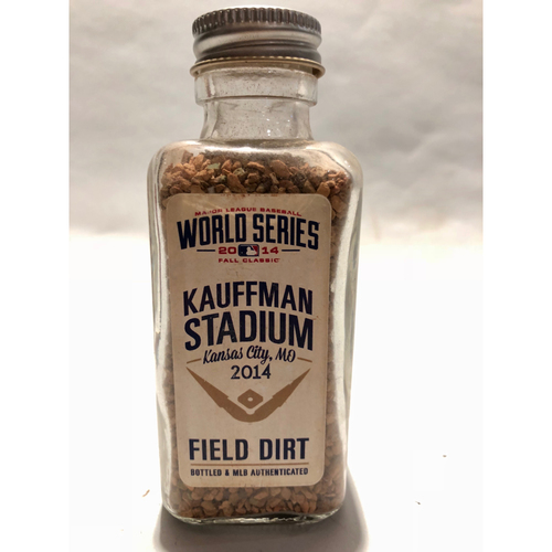 Photo of 2014 World Series Game 1: Kaufmann Stadium Game-Used Dirt Jar