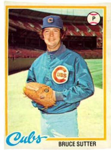 Photo of 1978 Topps #325 Bruce Sutter -- Hall of Fame Class of 2006
