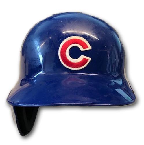 Photo of Ian Happ Team-Issued Cracked Batting Helmet -- Size 7 1/4