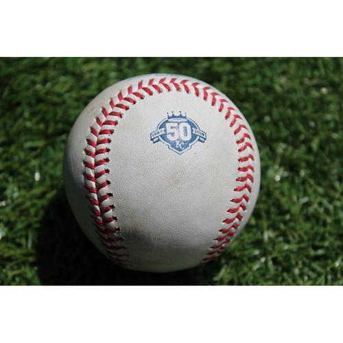 Photo of Game-Used Baseball: Jason Heyward 1,134th Career Hit (CHC @ KC - 8/6/18)