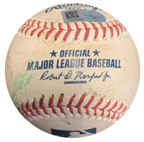 Photo of Game-Used Baseball from Pirates vs. Phillies on 5/19/17 - Jeremy Hellickson RBI Double