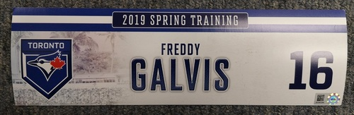 Photo of Authenticated Game Used Locker Tag - #16 Freddy Galvis (2019 Spring Training in Montreal)