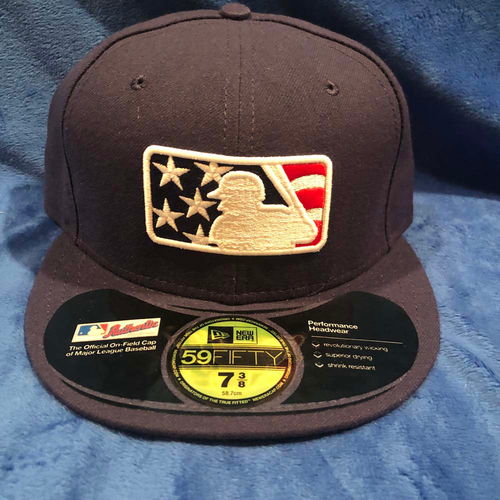 Photo of UMPS CARE AUCTION: MLB Specialty Stars and Stripes Umpire Cap, Navy, Size 7 3/8