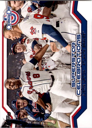 Photo of 2014 Topps Opening Day Superstar Celebrations #SC18 Justin Upton